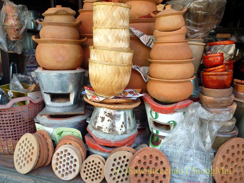 チェンマイにあるレトロな雑貨屋の土鍋