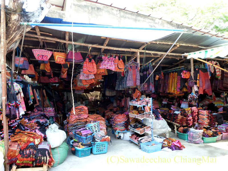 チェンマイの山岳少数民族の布の店