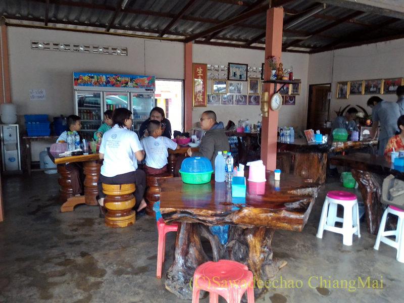 アルノータイのピロム雲南麺館の店内