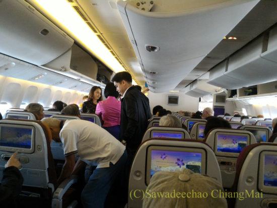 タイ航空777-300型機のキャビン