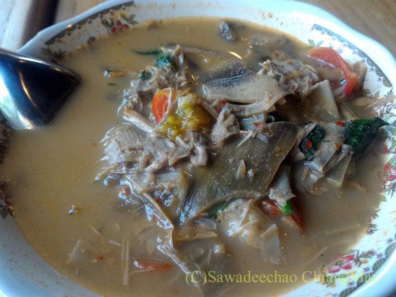 チェンマイのレストラン「ラムディーティークワデーン」のゲーンプリー