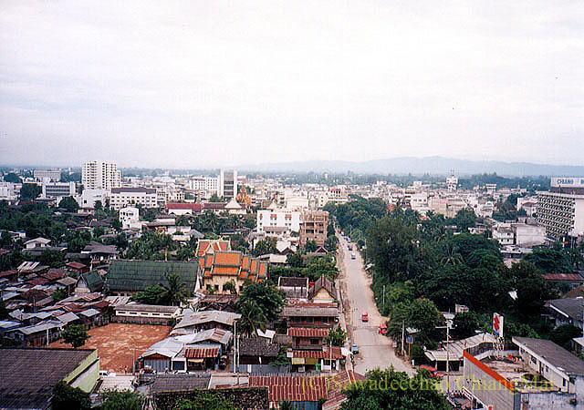 チェンマイの街の北側の1990年の様子