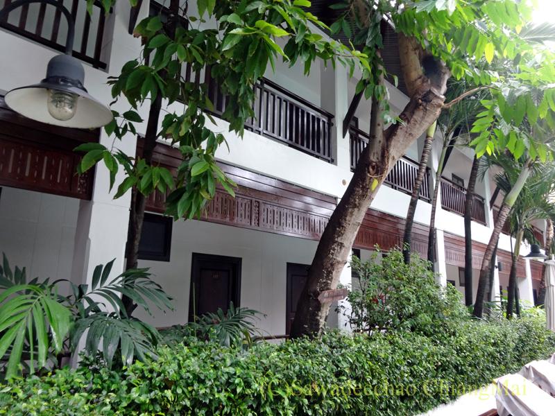チェンマイのリムピンビレッジホテルの宿泊棟