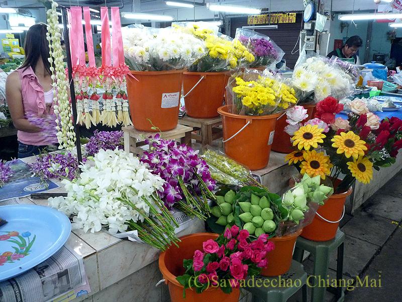 チェンマイのチャーンプアック市場の花屋