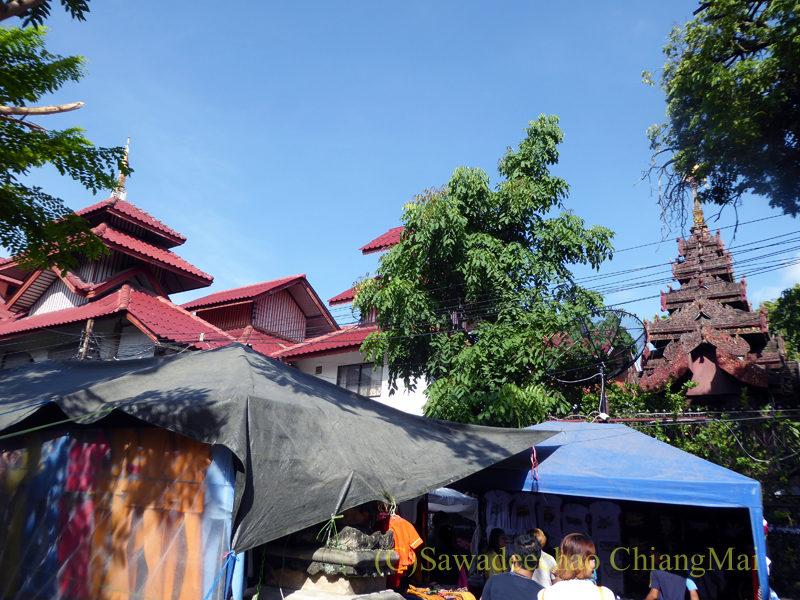 チェンマイのタイヤイ(シャン族)寺院、ワットパーパオの本堂