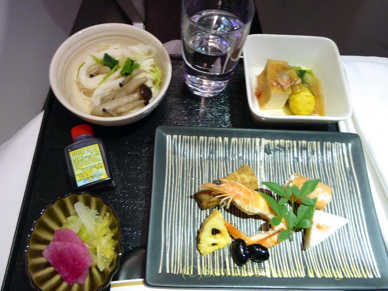 マレーシア航空MH71便のビジネスクラスで出た前菜