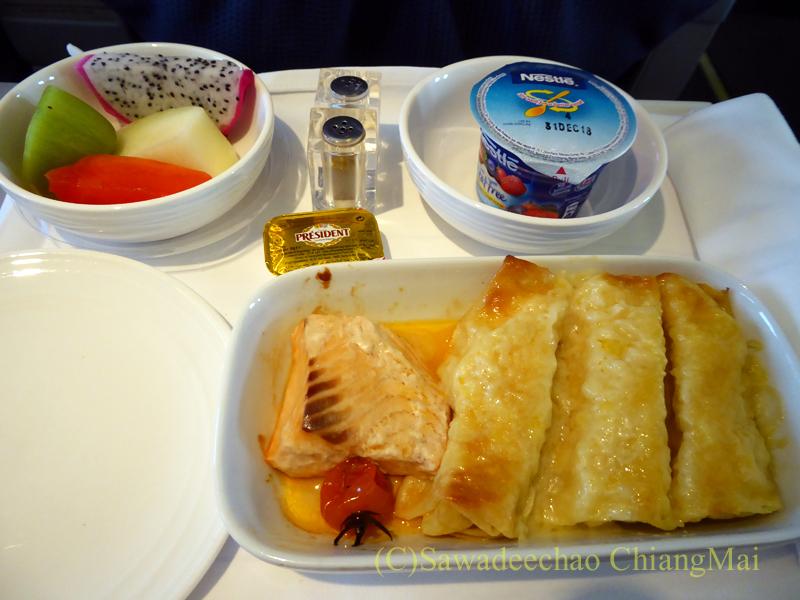 マレーシア航空MH784便ビジネスクラスで出た機内食全景