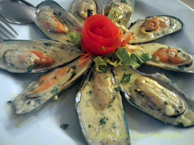 チェンマイのイタリア料理レストラン、ダ・アントニオのムール貝のグリル