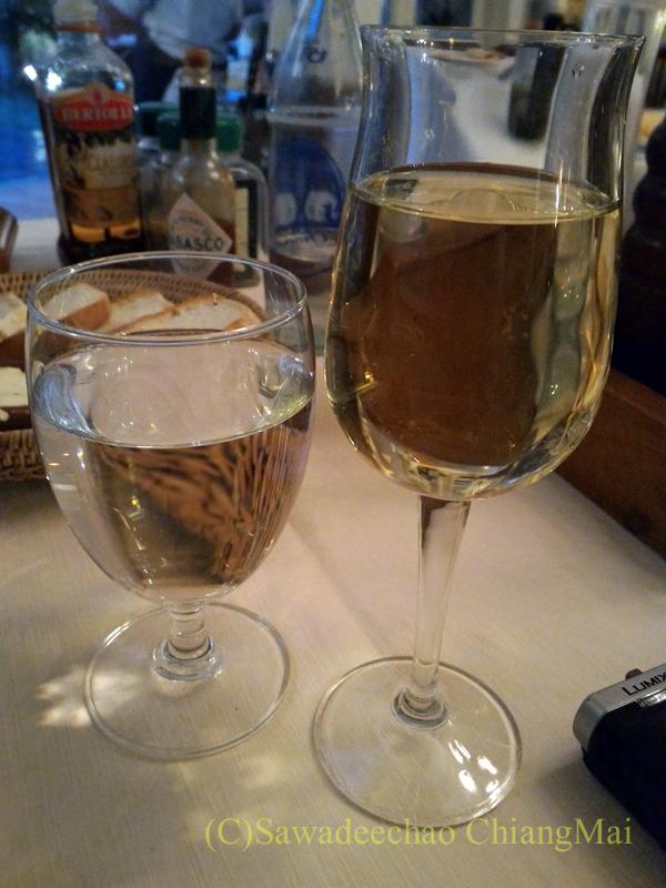 チェンマイのイタリア料理レストラン、ダ・アントニオのワイン