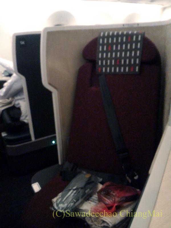 日本航空787-9型機ビジネスクラスのシート