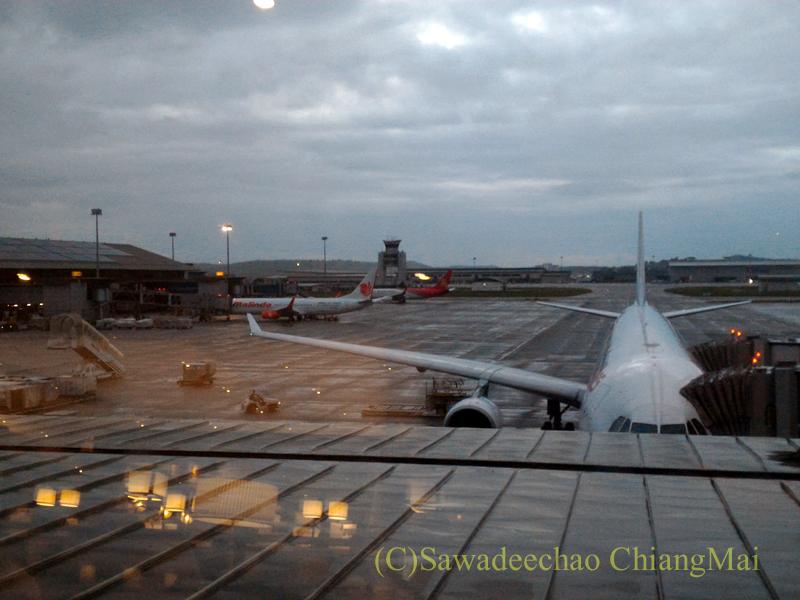 クアラルンプール空港マレーシア航空ゴールデンラウンジからの景色