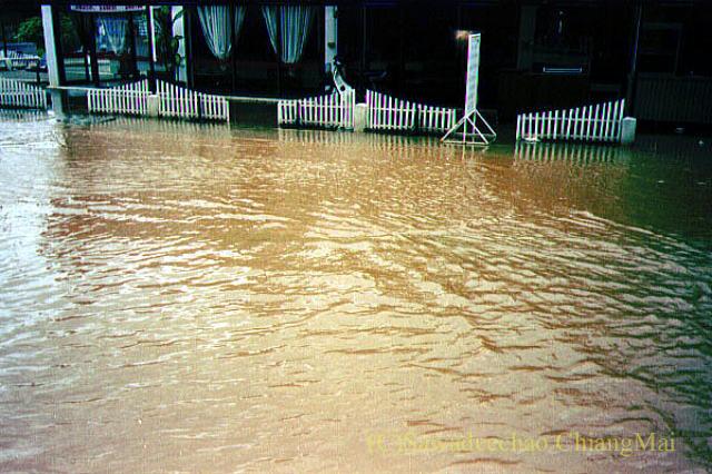 1994年の大洪水の時のチェンマイの道路