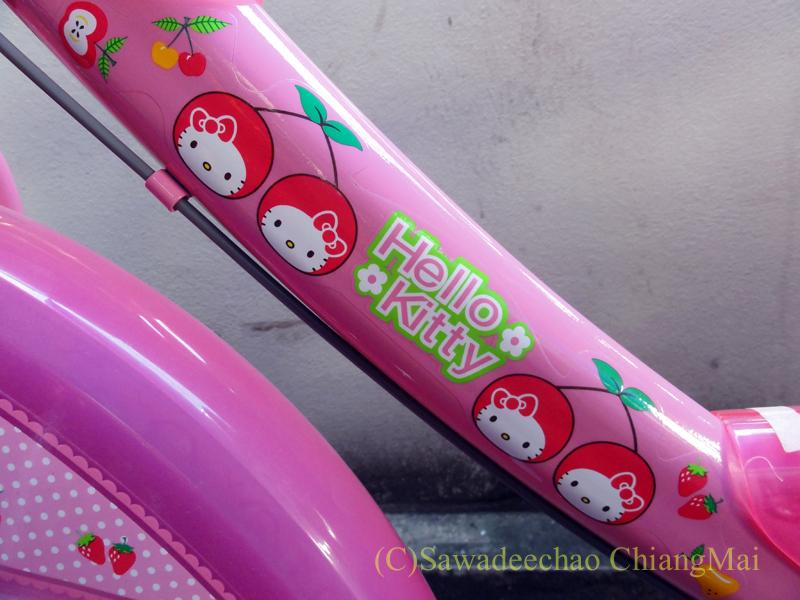 チェンマイで友人の娘に買ってやった自転車のイラスト