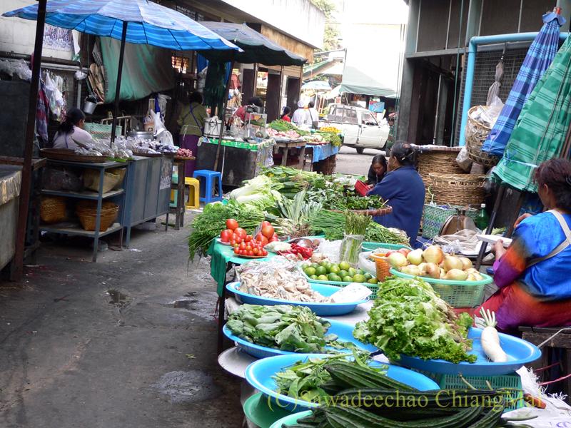 チェンマイ市内中心部にあるチェンマイ門市場