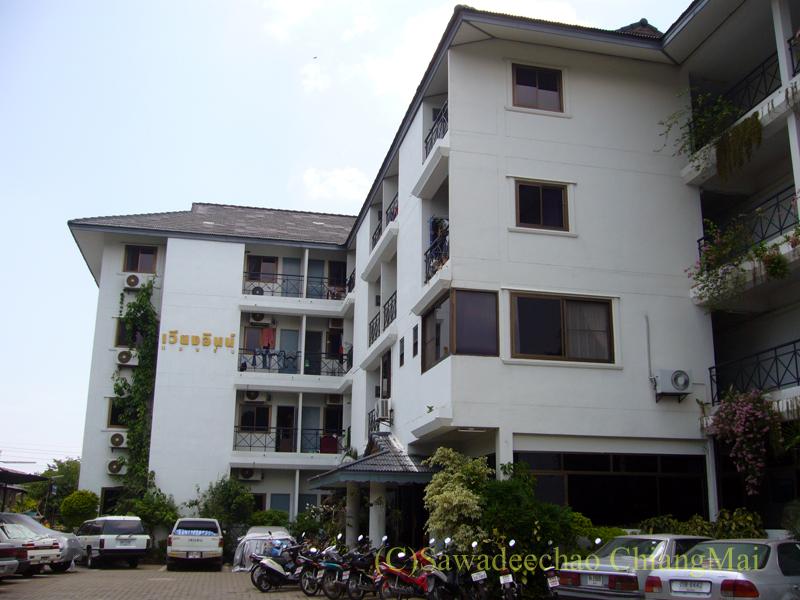 チェンマイ市内の一般的なアパート