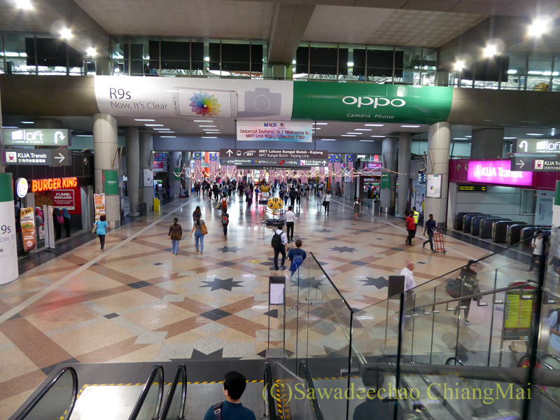 マレーシアのクアラルンプールセントラル駅のコンコース