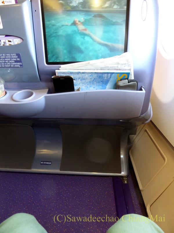 タイ国際航空TG110便ビジネスクラスのシート