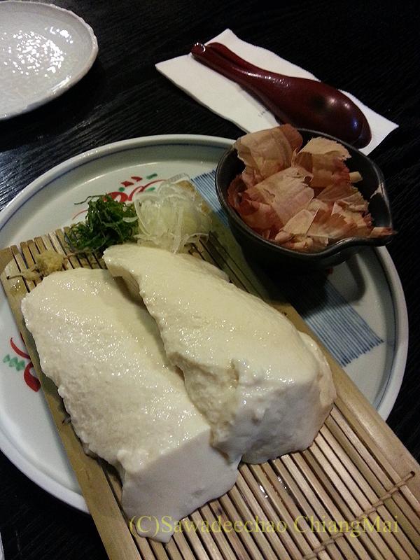バンコクにある和食居酒屋「みつもり」の手作り豆腐