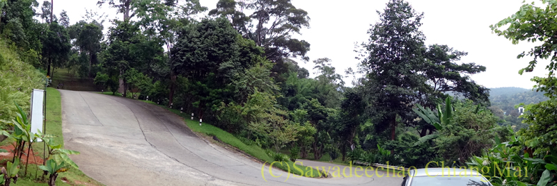 チェンマイ北部郊外にあるクイーンシリキット植物園の中の風景
