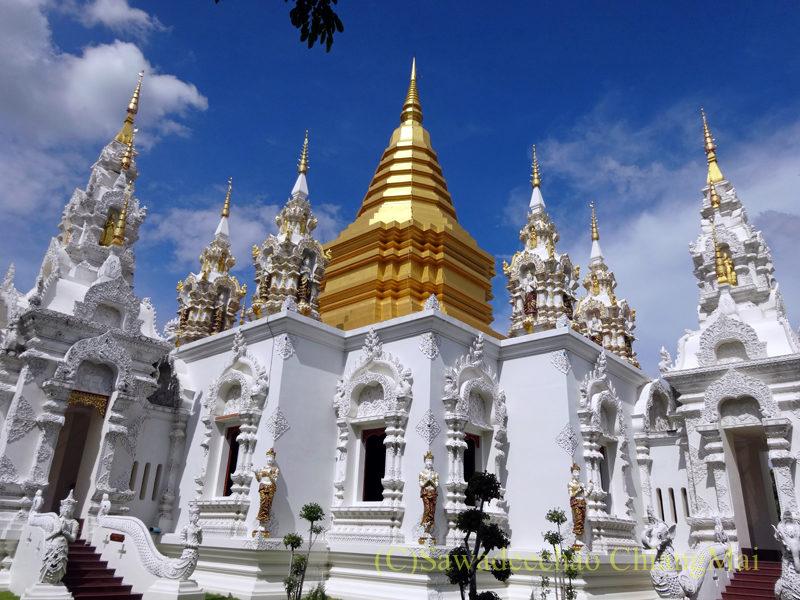 唯一存命のクルーバーがいるチェンマイの寺院ワットシードーンムーンの奥の仏塔