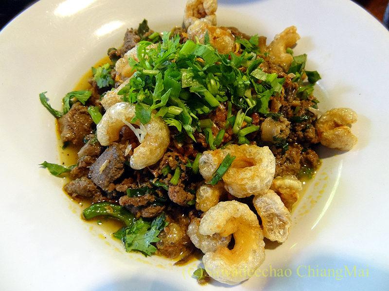 チェンマイにある北タイ料理レストラン、フアンチャイヨーンのラープコア