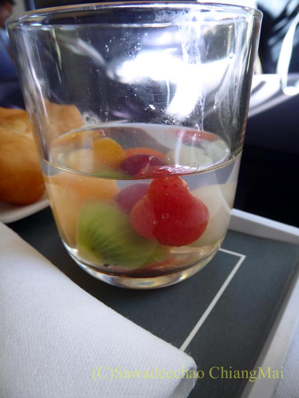 タイ国際航空TG102便ビジネスクラスで出たデザート