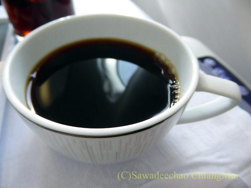 タイ国際航空TG102便ビジネスクラスで出たコーヒー