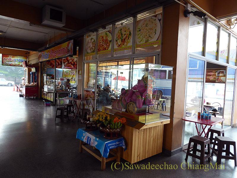 チェンマイにある新アーケードバスターミナルの売店