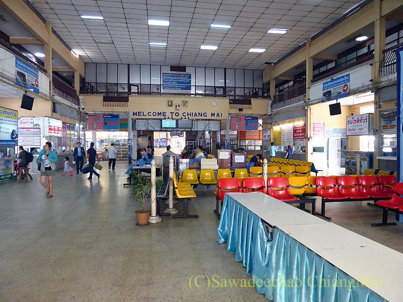 チェンマイにある旧アーケードバスターミナルの構内