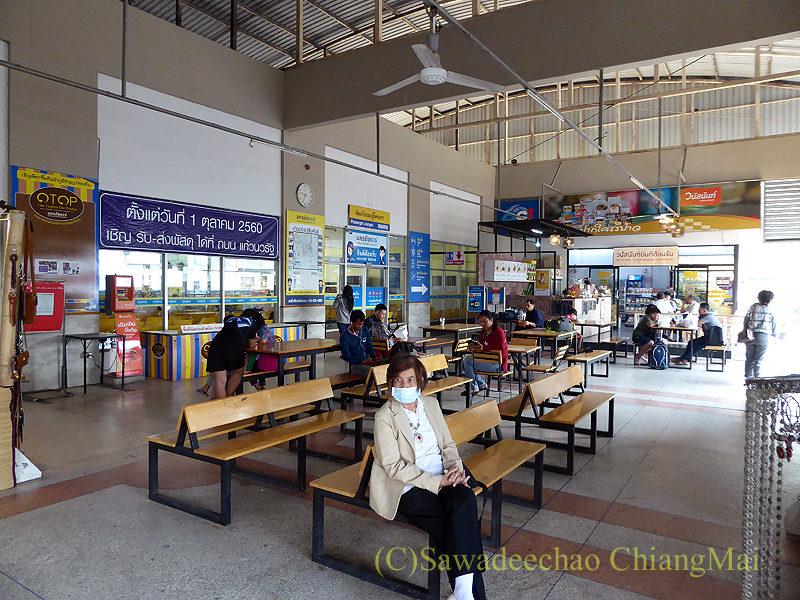 チェンマイのナコンチャイエアー専用バスターミナルの内部