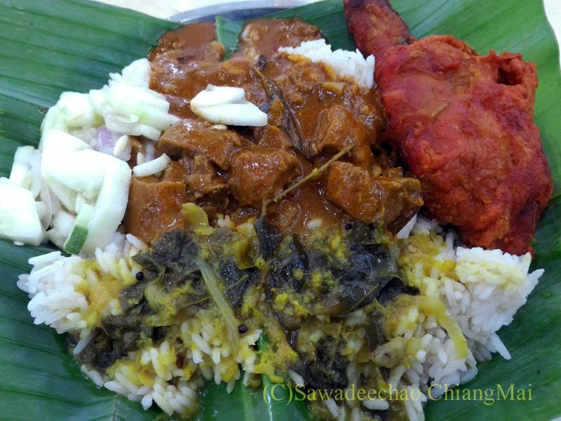 クアラルンプールのインド料理レストラン、Restoran Sri Kortumalai Pillayarで食べた料理