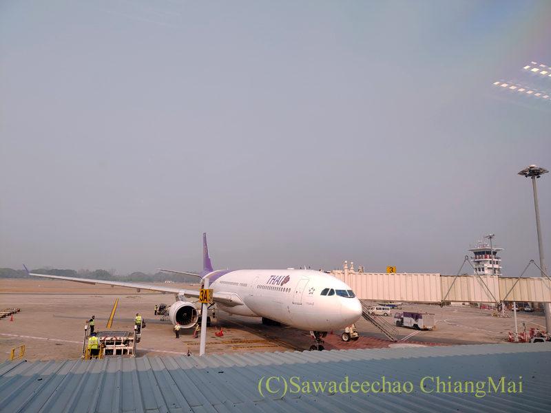 チェンマイ空港着陸