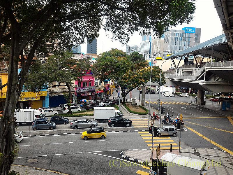 マレーシアのクアラルンプールにあるチョウキット駅からの風景