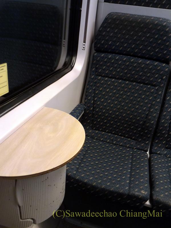 マレーシア・クアラルンプールの空港鉄道KLIAエクスプレスの座席