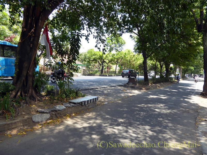 インドネシアのソロ(スラカルタ)の街の道路