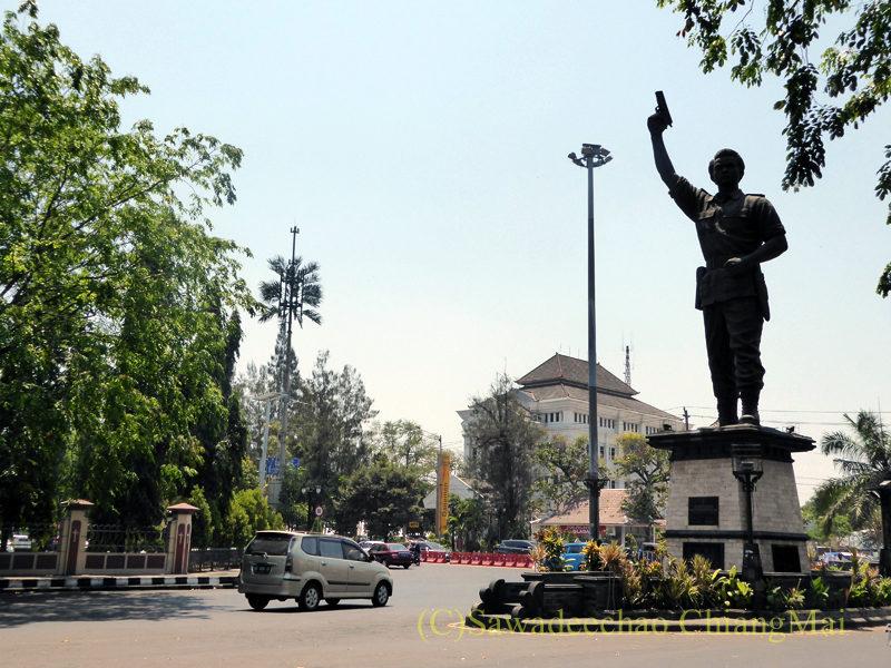 インドネシアのソロ(スラカルタ)の街のロータリー