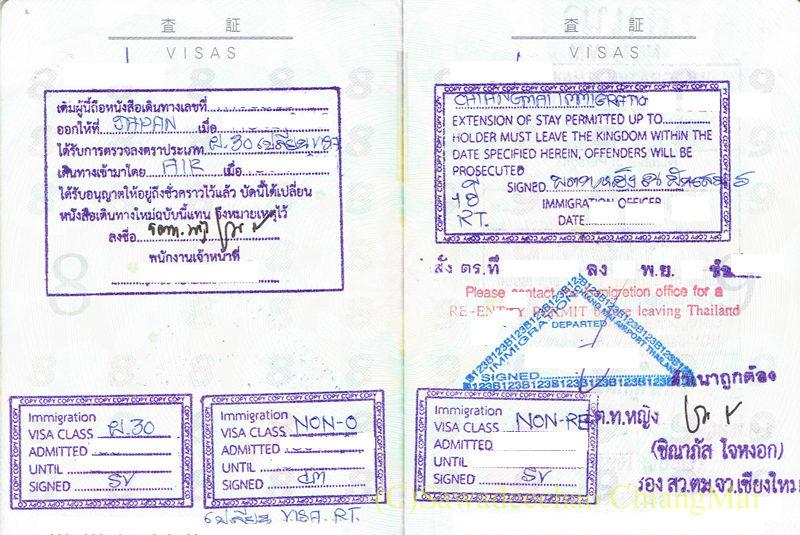 ビザを移し替えたパスポート