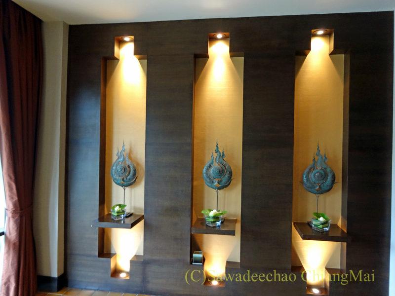 タイのピサヌロークにあるヨディアヘリテージホテルの内装