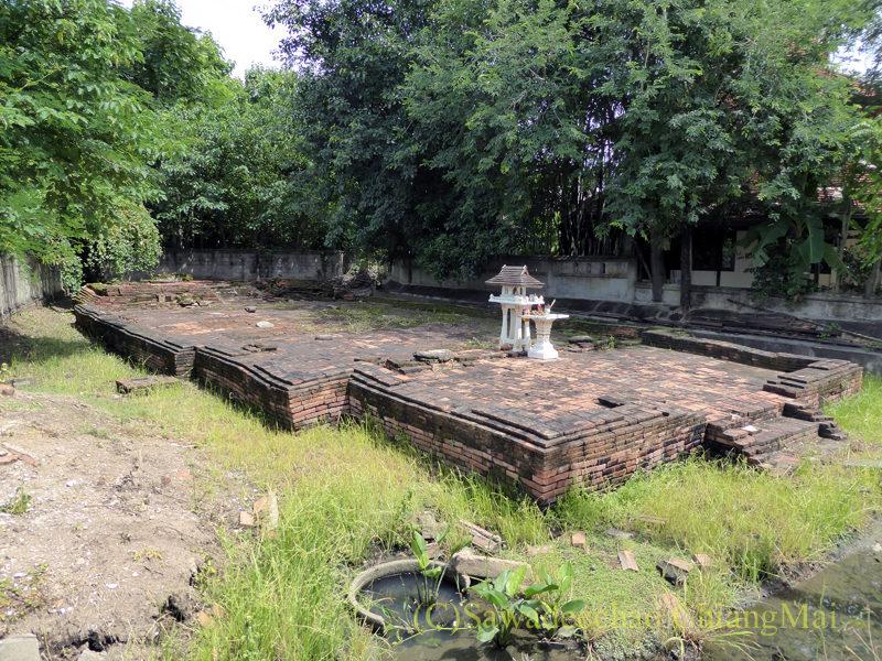 チェンマイのウィアンクム・カーム遺跡のワットクーアイシー