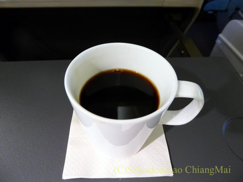 キャセイパシフィック航空CX500便ビジネスクラスで出たコーヒー