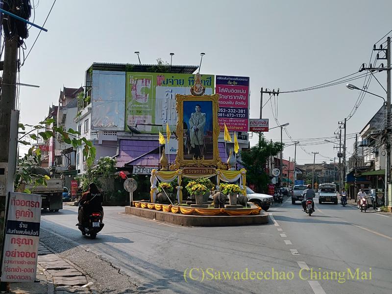 サンカムペーンの街の中のY字路