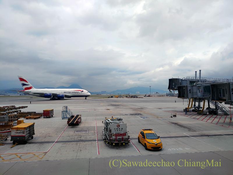 香港空港キャセイパシフィック航空The Pierラウンジからの景色