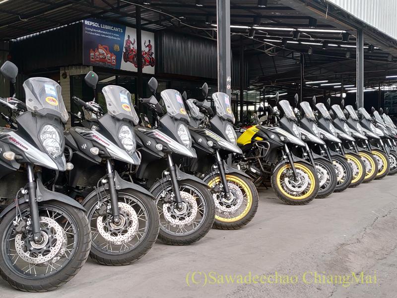 チェンマイ市内の大型バイクのレンタルショップ