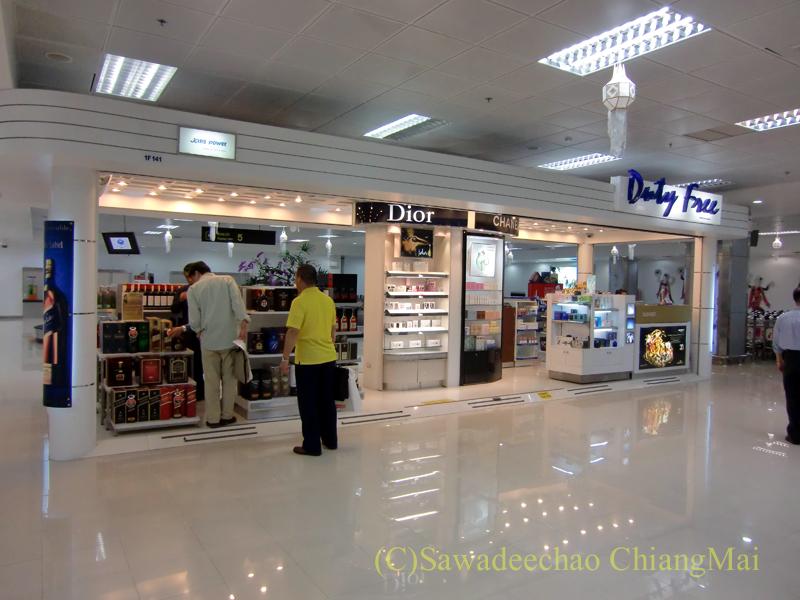 チェンマイ空港国際線ターミナル到着エリアの免税店