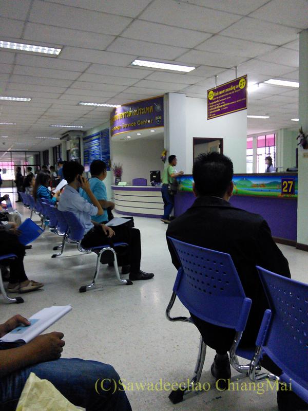 チェンマイ陸運局の待合スペース