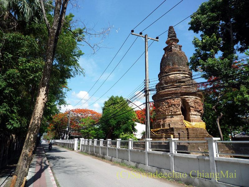 チェンマイ市内にある廃寺ワットパンサオ