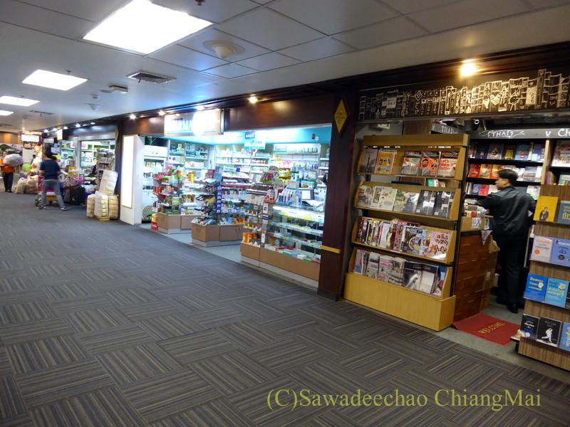チェンマイ空港国内線ターミナルの商店街