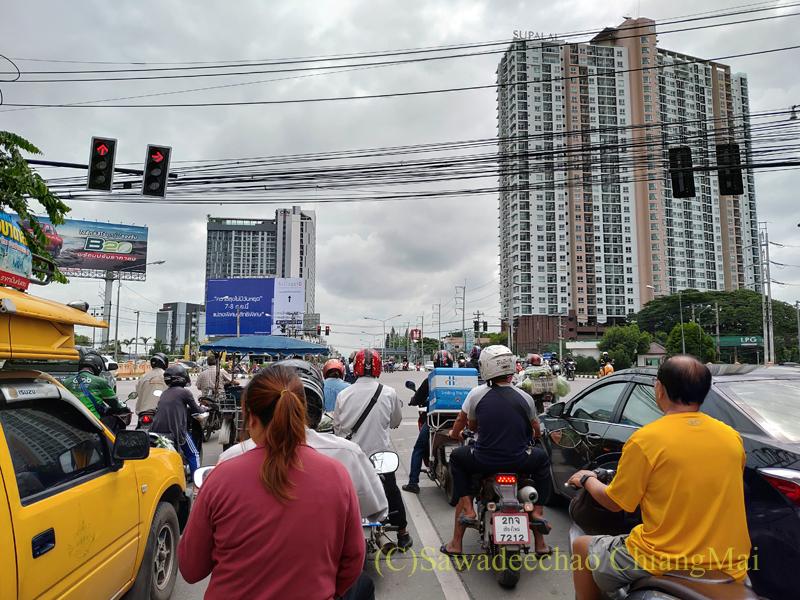 チェンマイのサーンデク交差点