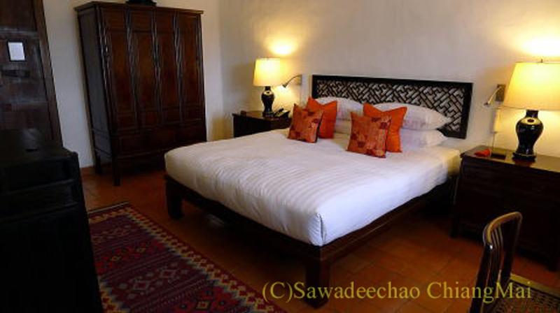 チェンマイの高級ホテル、ラチャマンカの客室概観