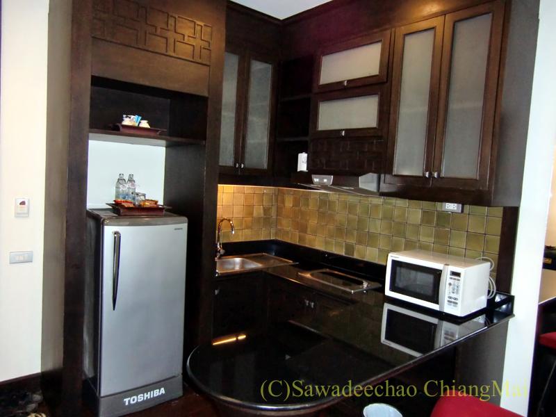 チェンマイの高級ブティックホテル、ボディセリーンのキッチン